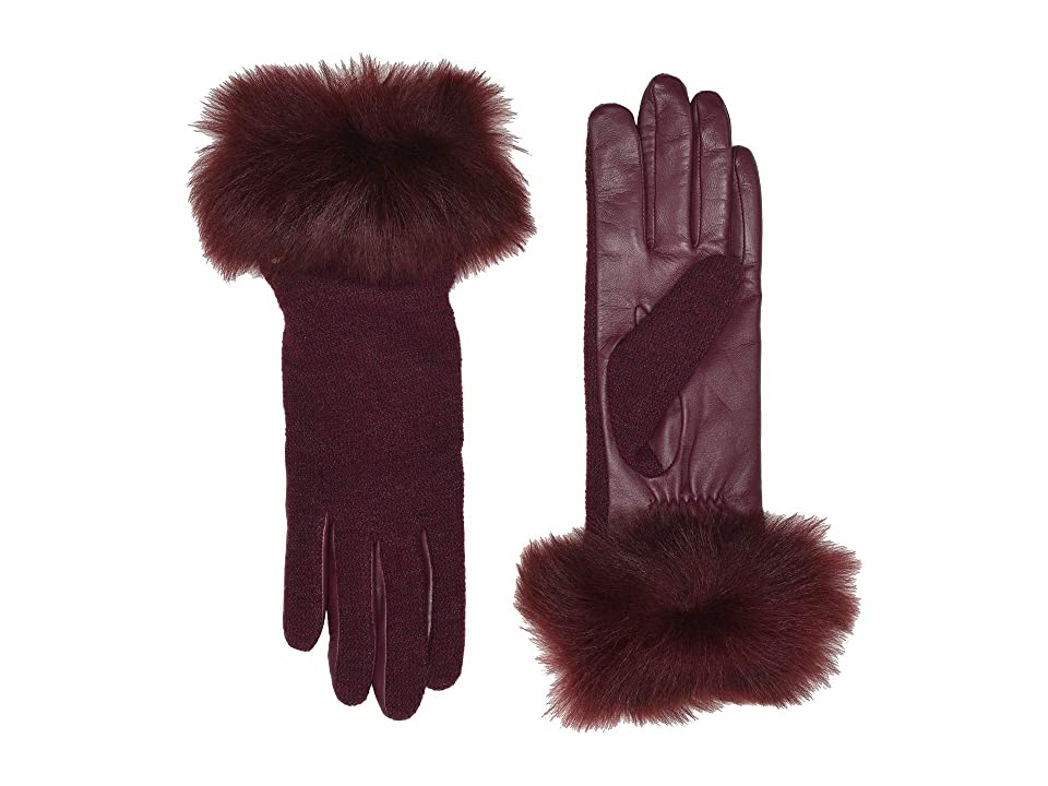 Victorian Gloves | Victorian Accessories UGG Italian Wool Blend Tech Gloves with Long Pile Sheepskin Trim Port Extreme Cold Weather Gloves $85.00 AT vintagedancer.com