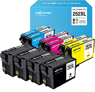 myCartridge Re-Manufactured Ink Cartridge Replacement for Epson 252XL (4 Black 2 Cyan 2 Magenta 2 Yellow, 10-Pack)