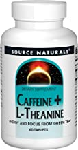 Source Naturals Caffeine + L-Theanine, 60 Tablets