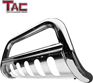 TAC Bull Bar Custom Fit 2011-2018 Ford Explorer SUV 3 inches T304 Stainless Steel Front Brush Bumper Guard Grille Guard Push Guard Off Road Automotive Exterior Accessories (Certified Refurbished)