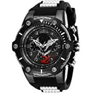 Invicta Men's Marvel Stainless Steel Quartz Watch with Silicone Strap, Two Tone, 30 (Model: 29055