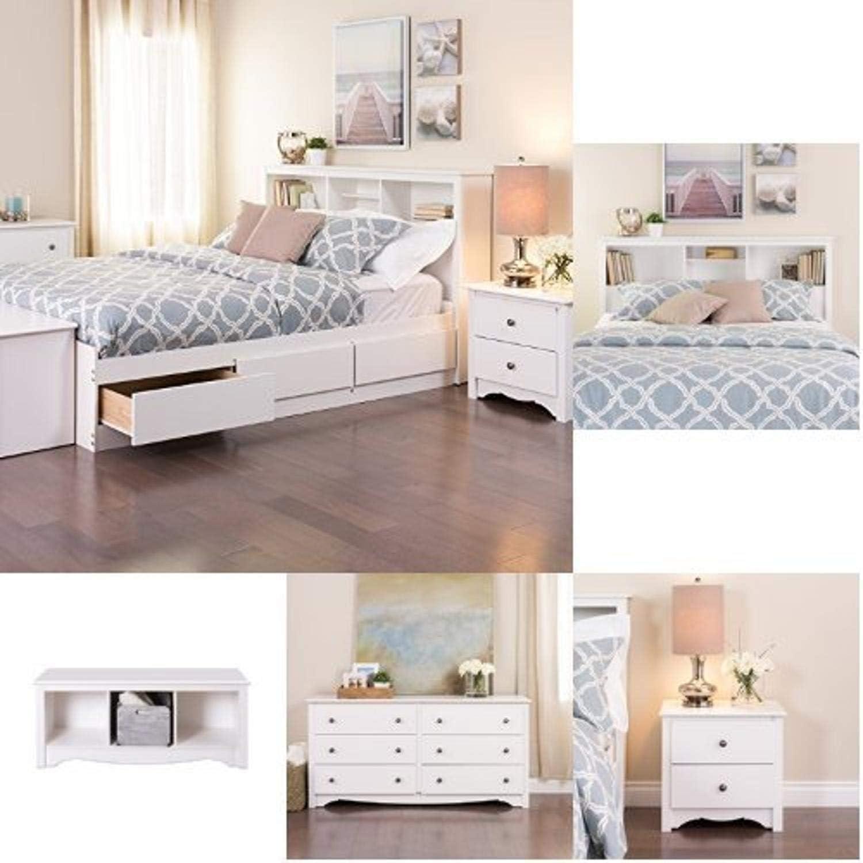 Prepac Monterey 5-piece Queen Set White Bedroom 5% online shopping OFF -