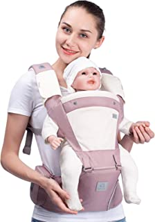 Bebamour Soft Style Designer Baby Carrier and Baby Sling Carrier 2 in 1 (Light Pink)