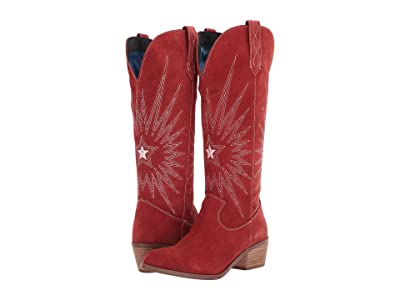 Dingo Star Is Born (Red Suede) Cowboy Boots