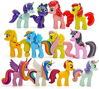 STEAM 12 Piece Little Pony Toys Figurines Playset, 2.8