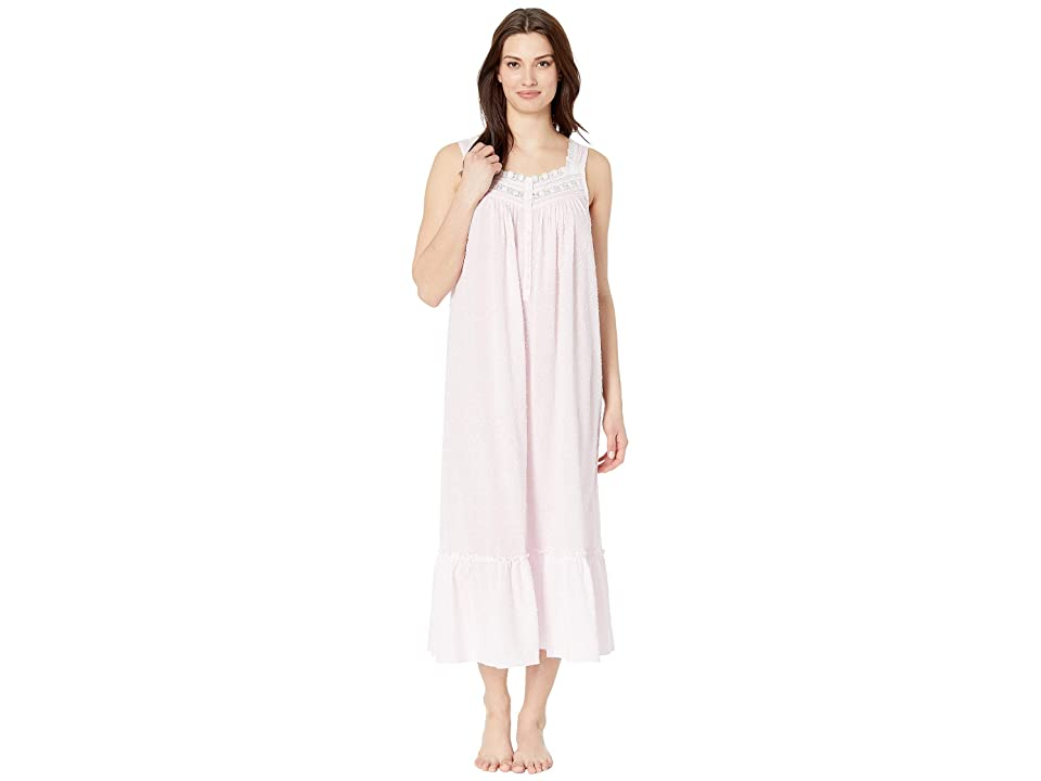 Eileen West Cotton Circle Clip Dot Ballet Nightgown (Solid Rose) Women