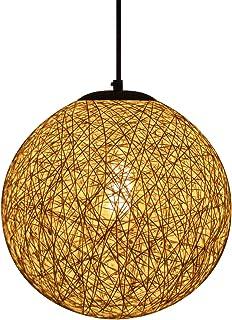 Huahan Haituo Kolorowa krata wiklinowa rattanowa kula żyrandol kreatywny salon balkon restauracja osobowość sypialnia lamp...