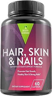 Premium Natural Hair, Skin & Nails Treatment by Naturo Sciences – Advanced Multivitamin Formula Promotes Active Rejuvenation & Healthy Restoration, Stimulates Growth, Strength & Hydration