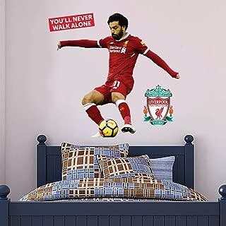 Official Liverpool FC - Mo Salah Shooting Player Decal + LFC Wall Sticker Set Print Mural Vinyl Decal (175cm Height)