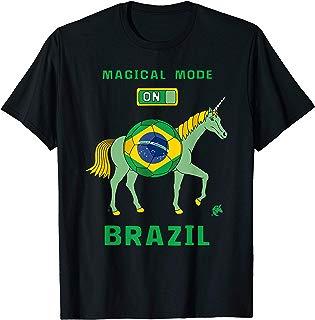 Magical Mode On Brazil Soccer Unicorn T-Shirt