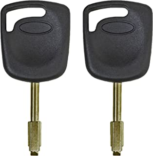 qualitykeylessplus Two Replacement Transponder Chip Keys FO21T7PT for Jaguar Vehicles with Free KEYTAG