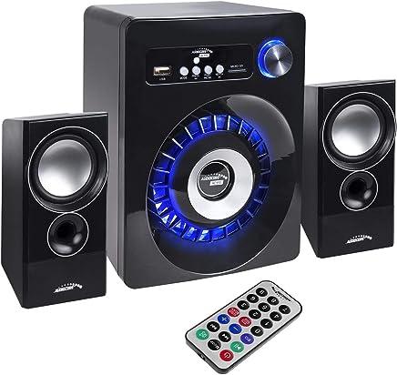 Audiocore AC910 2.1 - Altoparlante multimediale bluetooth, subwoofer 280 W P.M.P.O. Radio slot scheda SD AUX - Trova i prezzi più bassi