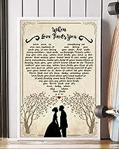 When Love Finds You Song Lyrics Portrait Poster Print Mattata Decor (24