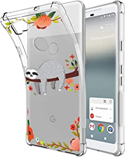 Google Pixel 2 Shock Proof Case with 4 Reinforced Corner Cushions Soft TPU Silicone Shock Absorption Bumper Pixel2 Clear C...