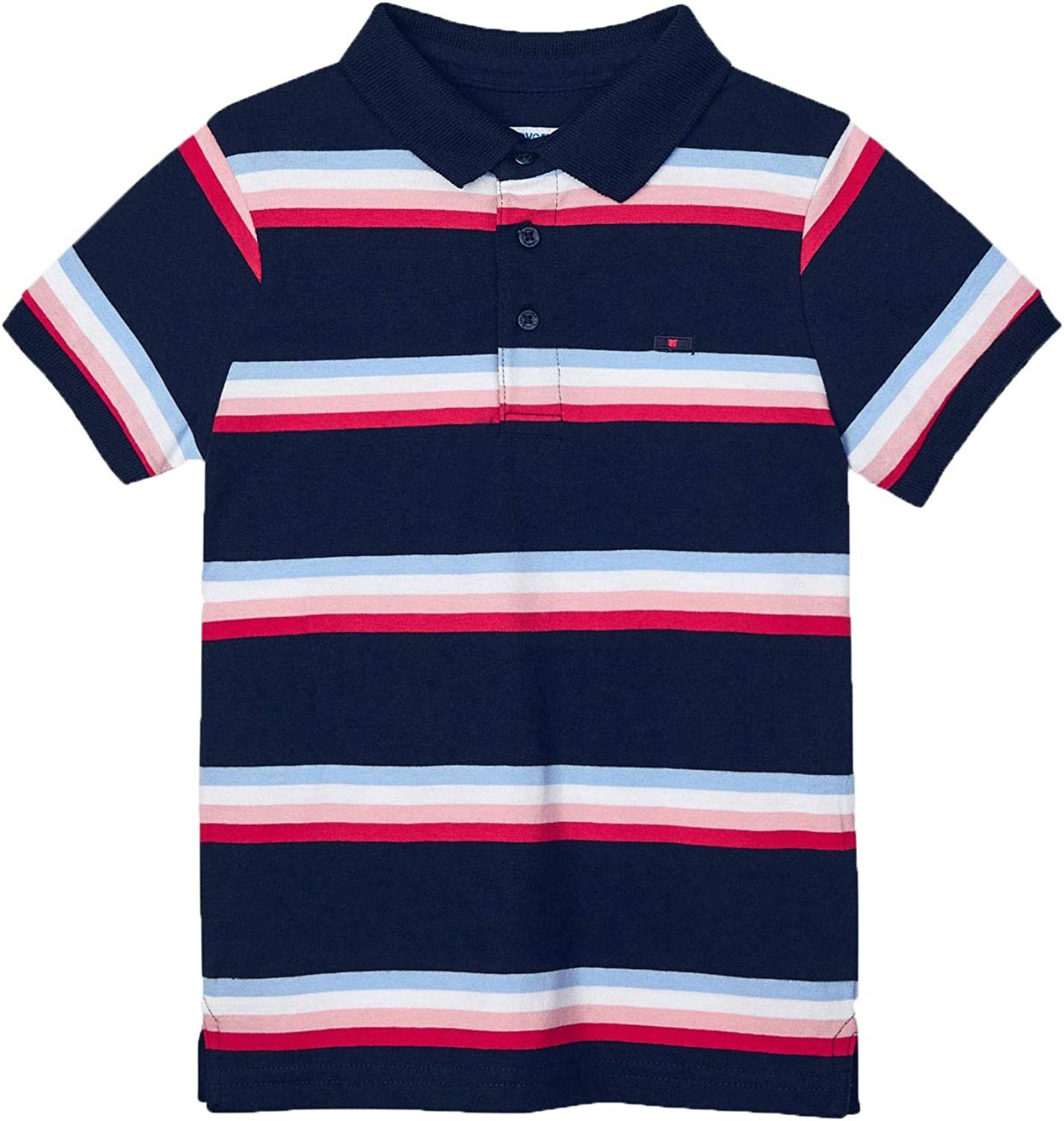 Mayoral - Stripes s/s Polo for Boys - 3111, Navy