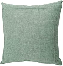Jepeak Burlap Linen Throw Pillow Cover Cushion Case, Farmhouse Modern Decorative Solid Square Thickened Pillow Case for Sofa Couch (24 x 24 inches, Sage Green)
