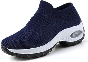 Femmes Minceur Chaussures Marche Baskets Plate-Forme Chaussures Poids Air Léger Engrener Elastic Sports en Marchant Yoga T...