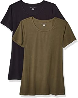 e70daaabbc8 Amazon Essentials Women's 2-Pack Classic-Fit Short-Sleeve Crewneck T-Shirt