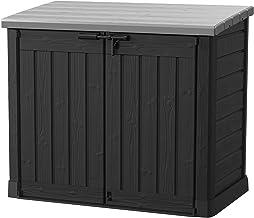 Koll Living Gartenbox Mülltonnenbox Gerätebox Schuppen für 2X 240 Liter Mülltonnen - 100% schimmelfrei durch Belüftung - M...