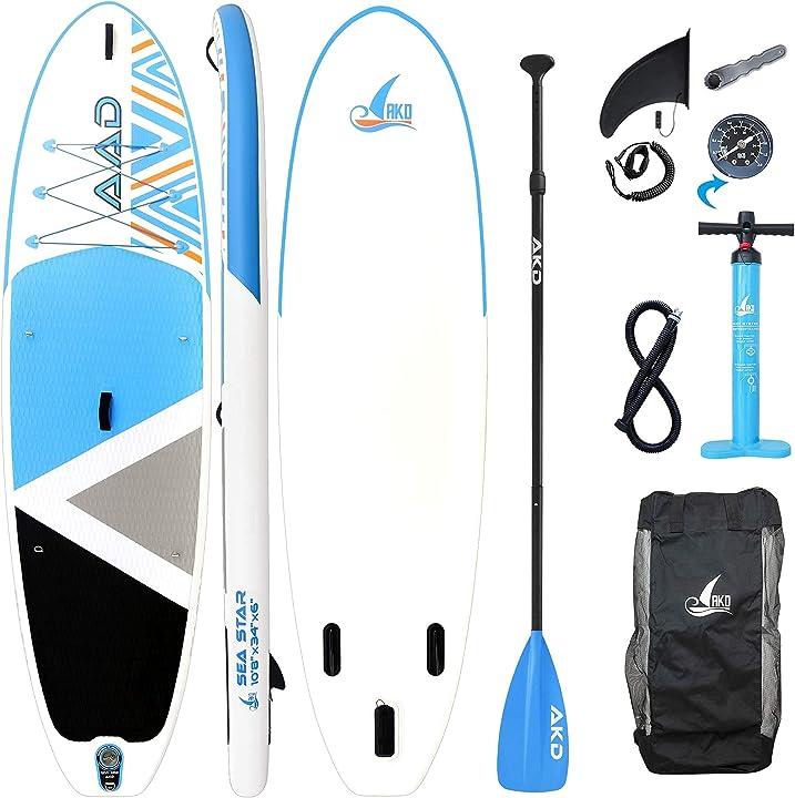 Paddle board 325x86x15cm 2 posti tavola gonfiabile mare 165kg / 346l akd germany seastar 10`8