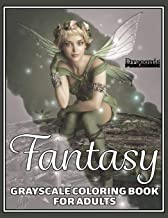 Fantasy Grayscale Coloring Book for Adults: 32 Single-Sided Designs Perfect for Stress Relief and Relaxation
