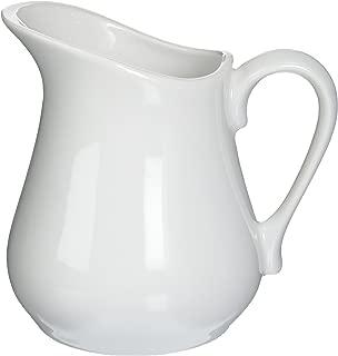 Bia Cordon Bleu Inc Bia Cordon Bleu Inc 900147 8 Oz White Porcelain Pitcher, White