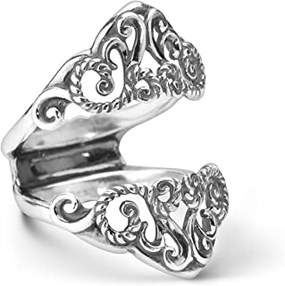 Carolyn Pollack Sterling Silver Filigree Guard Ring Size 5 to 10