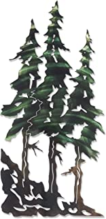 Next Innovations 3D Metal Wall Art - Pine Tree Nature Wall Art - Botanical Art Handmade in The USA for Use Indoors or Outdoors