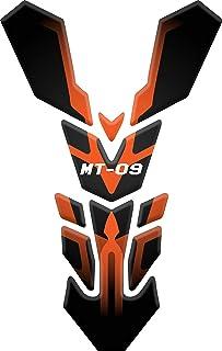 Tankpad Motorad Draht Muster Tankschutz Polymer KOMPATIBEL Yamaha MT 09 2017 2018 (Orange)