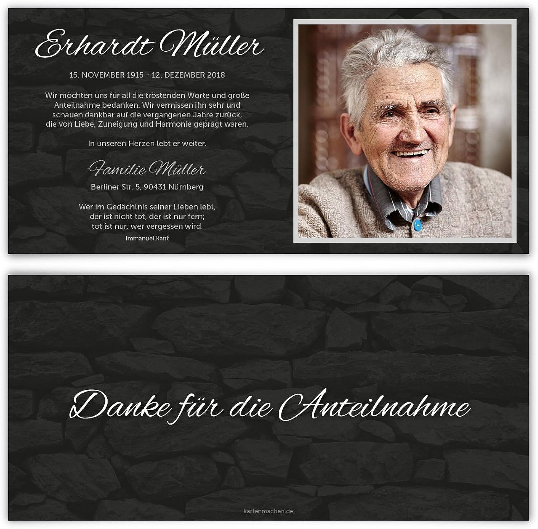 80 x Trauer Dankeskarten Danksagung Danksagungskarten Trauerkarten individuell - Wand Wand Wand der Erinnerung B07BHP55VH | Zürich  2d8b0a