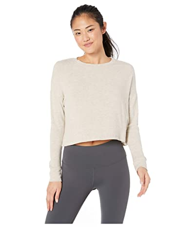 Beyond Yoga Brushed Up Cropped Pullover (Oatmeal Heather) Women