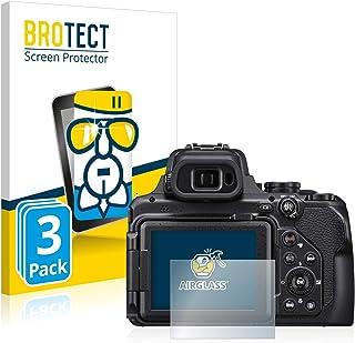 BROTECT Protector Pantalla Cristal Compatible con Nikon Coolpix P1000 Protector Pantalla Vidrio (3 Unidades) Dureza 9H AirGlass