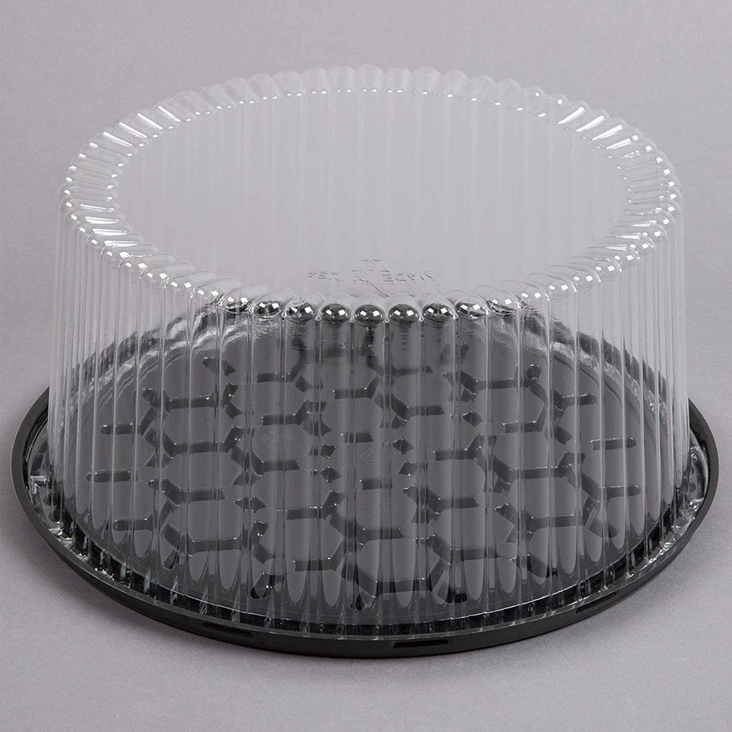 12 Inch Plastic Disposable Cake Containers Carriers with Clear D