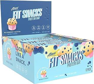 Alani Nu Fit Snack Protein Bar, Gluten-Free Bars, 16g Protein, Low-Sugar, Low-Carb, Gluten-Free, Blueberry Muffin, 12 Serv...