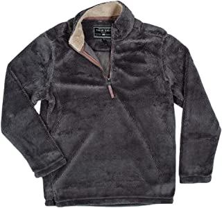 True Grit Mens Pebble Pile 1/4 Zip Pullover