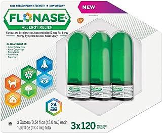 Flonase Allergy Relief Nasal Spray - 120 Metered Sprays - (Pack of 3) - Total 360 Sprays