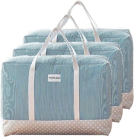 Roofeel mudanzas moradas ropa de cama funda de edred/ón con cremalleras mantas Bolsas de almacenamiento para debajo de la cama edred/ón grandes bolsas de almacenamiento para ropa