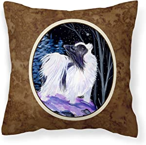 Caroline's Treasures SS8383PW1414 Starry Night Papillon Decorative Canvas Fabric Pillow, 14Hx14W, Multicolor