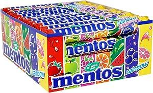 Mentos Rainbow Display mit 40 Rollen, 1er Pack (1 x 1.5 kg)