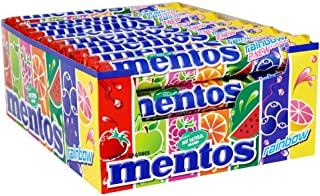 Mentos Chewy Mint Rainbow Candy Rolls (Pack of 40)