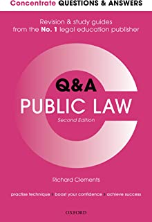 Concentrate Questions and Answers Public Law: Law Q&A Revision and Study Guide (Concentrate Questions & Answers)