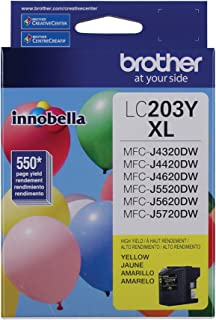Brother LC-203YXL DCP-J4120 J562 MFC-J4320 4420 460 4620 4625 480 485 5320 5520 5620 5720 680 880 885 Ink Cartridge (Yellow) in Retail Packaging