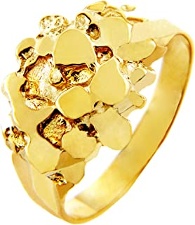 Nugget Rings Men's 14k Gold The Stoic