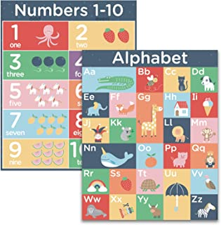 ABC Alphabet Number Wall Posters - 16x20