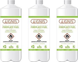 Ignis Bio Ethanol Fireplace Fuel – 3 Pack (3 Bottles)