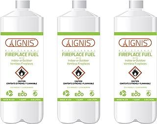 Ignis Bio Ethanol Fireplace Fuel - 3 Pack (3 Bottles)