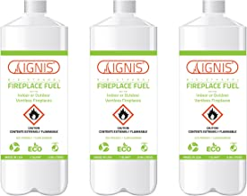 Ignis Bio Ethanol Fireplace Fuel - 3 Pack (3 Bottles)