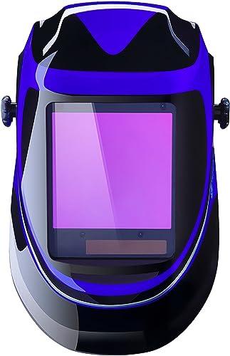 lowest Solar Powered discount Welding Helmet Auto Darkening Professional Hood lowest with Wide Lens Adjustable Shade Range 4/9-13 for Mig Tig Arc Weld Grinding Welder Mask outlet sale