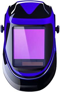 Solar Powered Welding Helmet Auto Darkening Professional Hood with Wide Lens Adjustable..