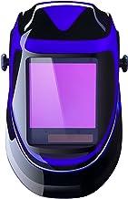 Solar Powered Welding Helmet Auto Darkening Professional Hood with Wide Lens Adjustable..